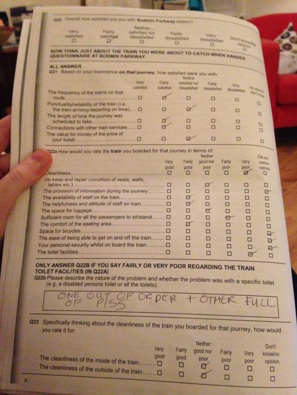 Rail passenger survey
