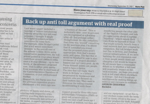 hunts post, letter