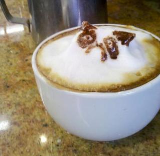 Grumpy cat latte
