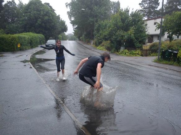 Idiots in a storm