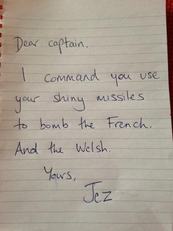 Jeremy Clarkson letter