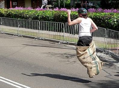 Island games sack race
