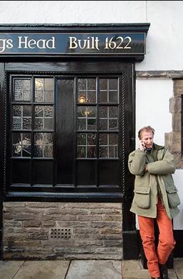 Man outside pub