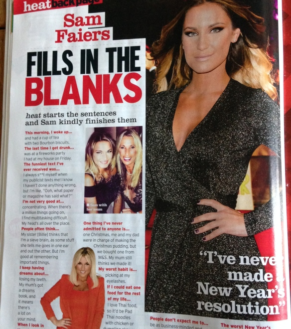 Sam Faiers, Heat magazine